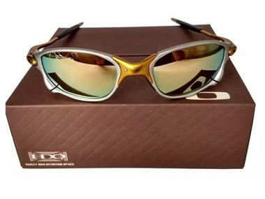 Oculos Oakley Double Xx 24k Dourada + Saquinho+caixa Oakley