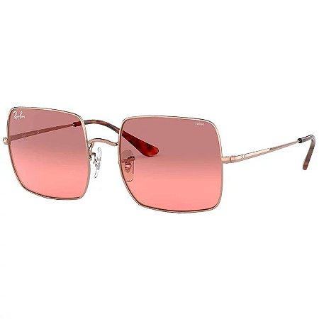 Óculos De Sol Ray-ban Square Rb1971 Rosa