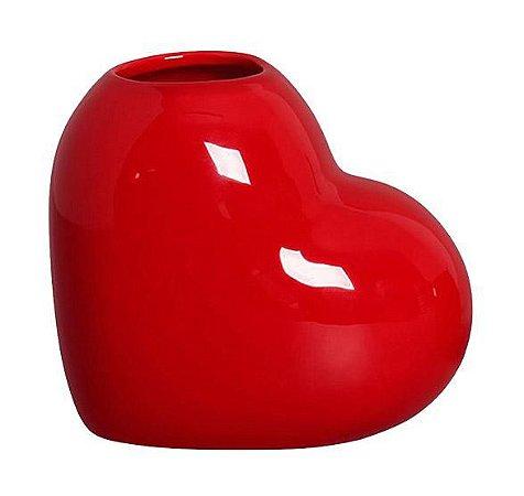Mini Vaso Coração Vermelho