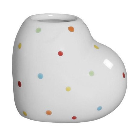 Mini Vaso Coração Poá Colorido