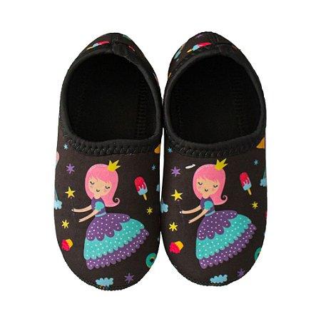 Sapato Neoprene Ufrog Fit Infantil Princesa