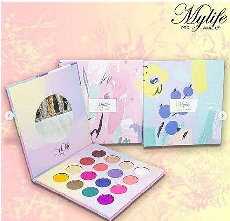 Paleta de Sombras com 16 cores - MyLife