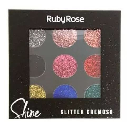 Paleta de Glitter Cremoso Cor B - Ruby Rose