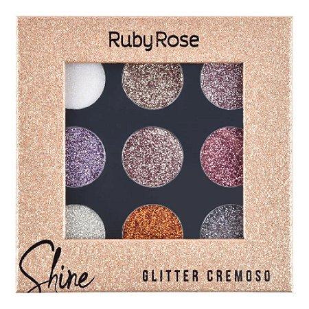 Paleta de Glitter Cremoso Cor A - Ruby Rose