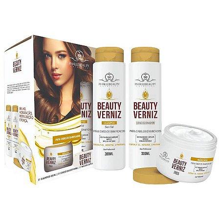 Kit para Cabelo Beauty Verniz - PhalleBeauty