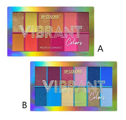 Paleta de Sombras Vibrant Colors - SP Colors