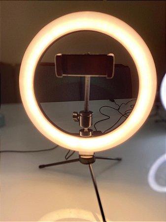 RingLight 10 polegadas com suporte para Celular