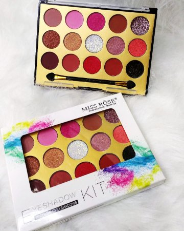 Paleta de Sombras Eyeshadow Kit 15 cores - Miss Rose