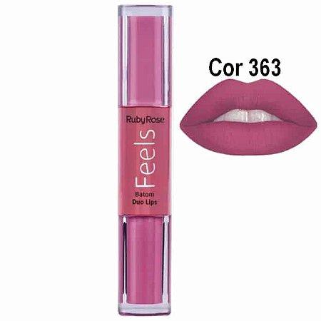 Batom Duo Lips Feels Cor 368 - Ruby Rose