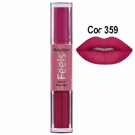 Batom Duo Lips Feels Cor 359- Ruby Rose