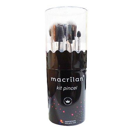 KP9-3 - Kit com 7 Pincéis para Maquiagem - Macrilan