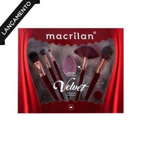 Kit de Pincéis Profissionais Embalagem Vermelha - Macrilan