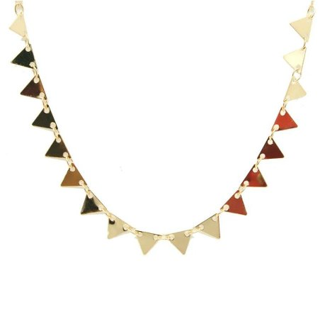 Colar Choker Triângulos Folheado