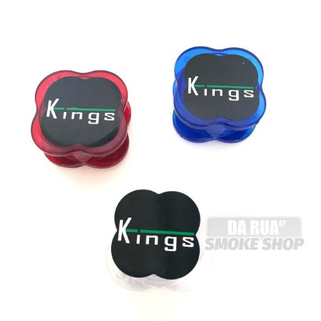 Dichavador Kings Policarbonato (3 partes) 4cm