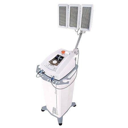 Hygialux Aparelho de Fototerapia em LED e Laser com Painel Emissor Tricolor Rack e Braço - KLD