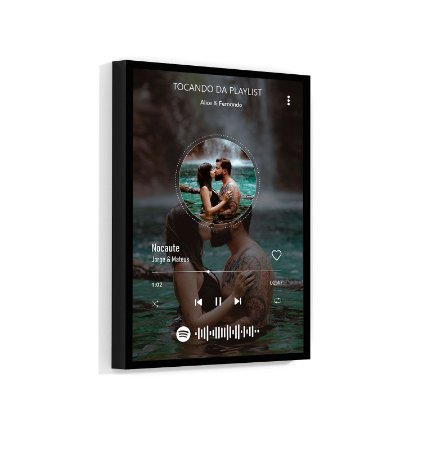 Quadro Personalizado Spotify 01 Com Sua Foto E Sua Música