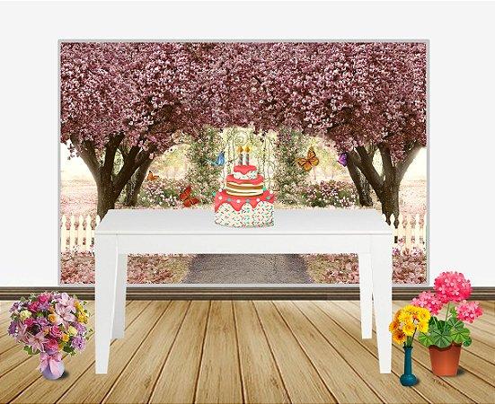 Painel de Festa Jardim Encantado