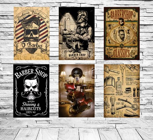Placas Decorativas Barbearia