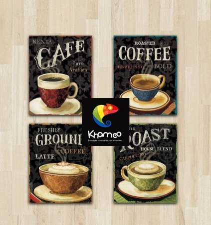 Placas Decorativas Café