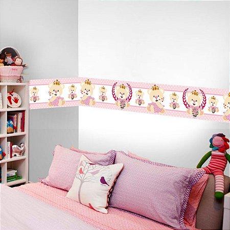Faixa Decorativa Ursinha Rosa