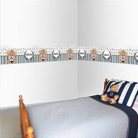 Faixa Decorativa Ursinho Principe com espaço para Nome