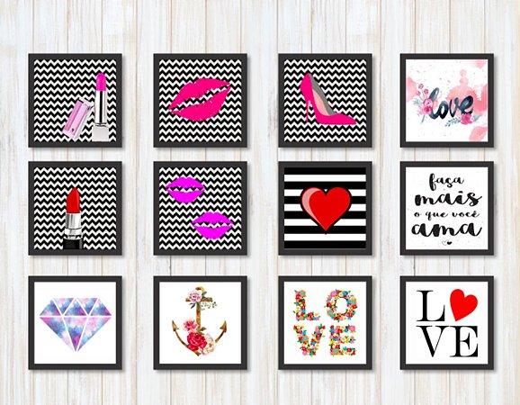 Quadro Decorativo Faça mais o que você ama Love