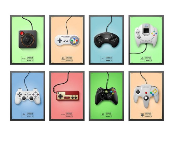 Placa Decorativa Controle Video Game