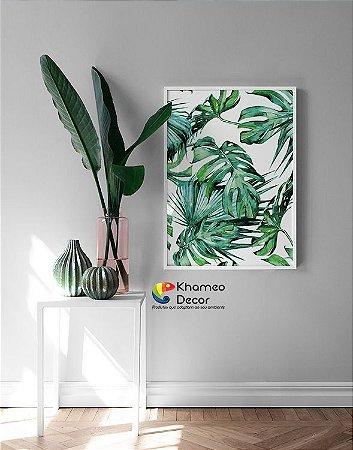 Quadro Folhagem Plantas Green