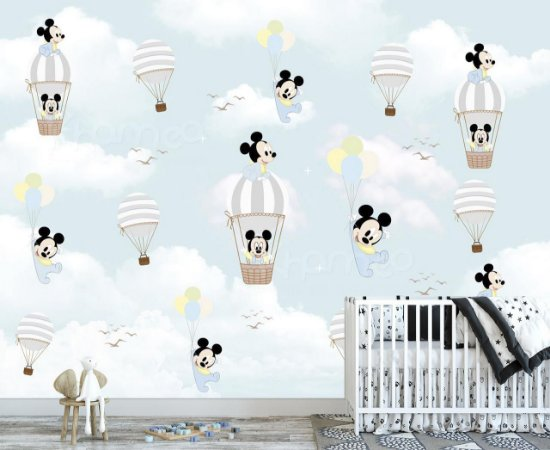 Papel de parede Mickey Mouse Baby