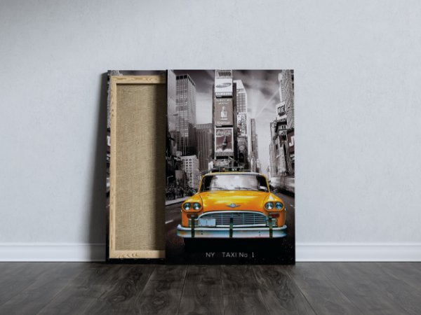 Quadro Táxi Amarelo Ny No 1 Travel Alta Qualidade Canvas