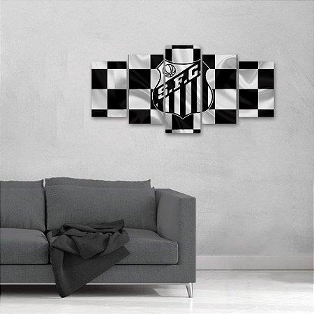 Quadro 5 peças Meninos da Vila Santos Futebol Club