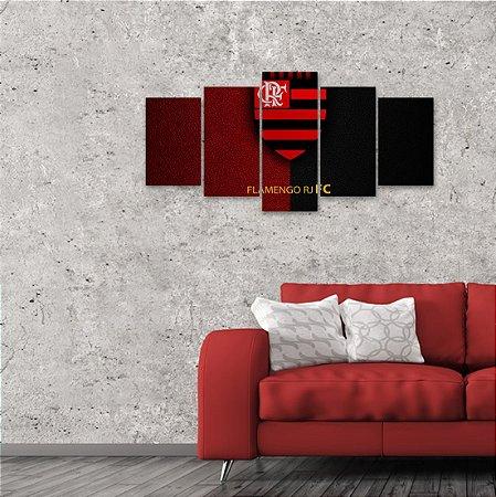 Quadro 5 peças Flamengo Campeão Libertadores 129x64