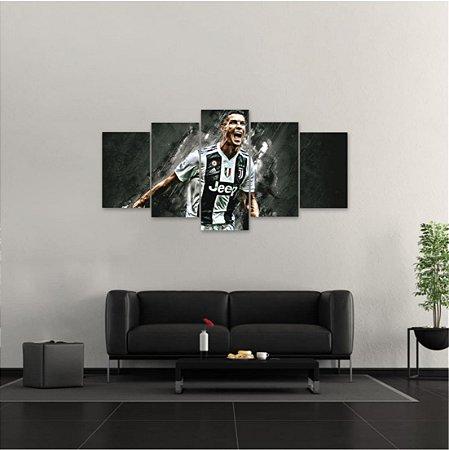 Quadro 5 peças Cristiano Ronaldo Juventus Football Club