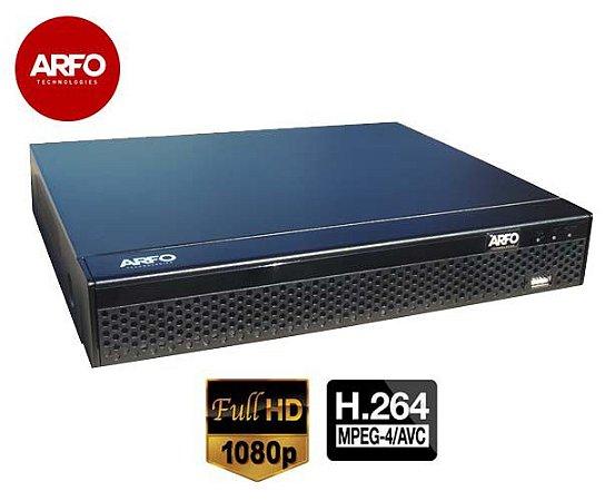 NVR/DVR ARFO MOD. XVR AR-2008D, 5X1, FULLHD,1080p, 1920x1080, 2mp,  Armazenamento Até 10 TB (hd não incluso)