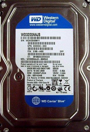 DISCO RIGIDO HD 320Gb SATA WD BLUE PARA DESKTOP E NVR