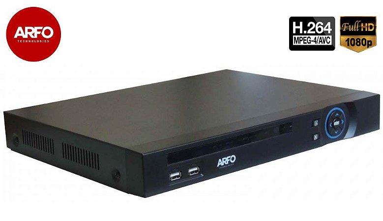 NVR/DVR ARFO MOD. XVR 2116A, 5X1, FULL HD, 1080p, 5Mp IP(grav.), 16CH IP OU 16CH BNC, Até 20 TB (hd não incluso)
