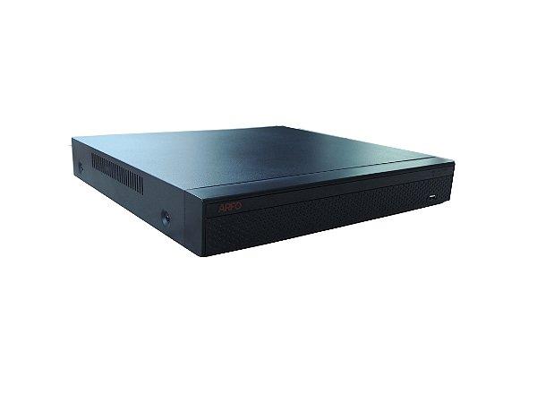 NVR ARFO 3608 SMART DIY (INSTALE VOCE MESMO), Modelo AR-3608DP, 16 Canais até 5Mp (8 Canais Poe in side + 8 Ip cabo), Switch Poe Embutido De 8 Portas