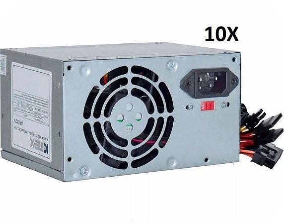 CAIXA COM 10 FONTES ATX K-Mex 200W PX300CNG