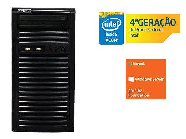SERVIDOR TORRE INTEL WINDOWS SERVER CENTRIUM SC-T1200 QUAD CORE XEON 1231V3 3.4GHZ 4GB UDIMM 500GB 2012 FOUNDATION 15 USUARIOS