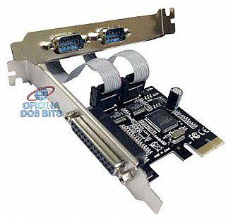 PLACA MINI PCIe, 2 SERIAL, 1 PARALELA - 2S1P