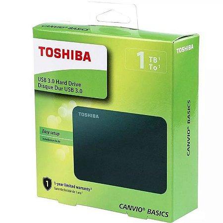 Unidade disco Externo 1tb Toshiba USB 3.0