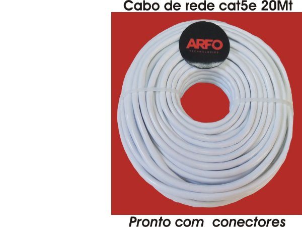 Cabo de Rede Cat5e Pronto 20Mt