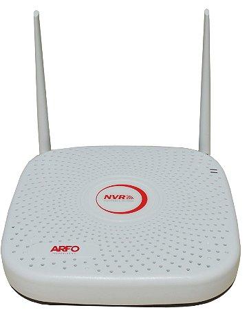 NVR ARFO AR-2008W SMART DIY (INSTALE VOCE MESMO), Modelo AR-2008w, 9 Canais (4 Canais Wireless (wifi) /Ip cabo + 5 Ip cabo)