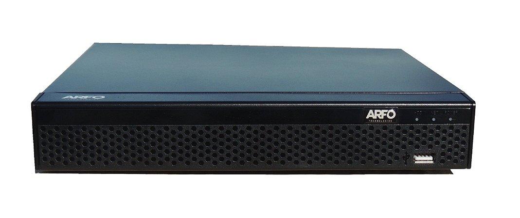 NVR POE ARFO AR-3608 SMART DIY Modelo AR-3608DP  (INSTALE VOCE MESMO), 9 Canais até 5Mp (8 Canais Poe in side + 1 Ip), Switch Poe Embutido De 8 Portas