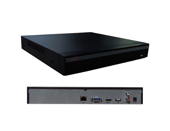 NVR ARFO 25 Canais AR-3625D 25 Canais IP por cabo UTP aceita câmera 4K e 5Mp ( h.264/264+/h.265/h.265+)
