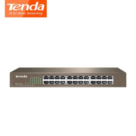 SWITCH TENDA 24 PORTAS FAST ETHERNET 10/100MBPS - MOD TEF1024D