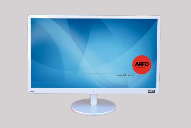 ALL IN ONE ARFO MOD. AR-2403B, BRANCO, TELA FULL HD 23.8'', PROCESSADOR INTEL i5 - 7400 3M Cache, 3.70 GHz, 4GB, SSD120GB + WEB CAM INTEGRADA + LINUX