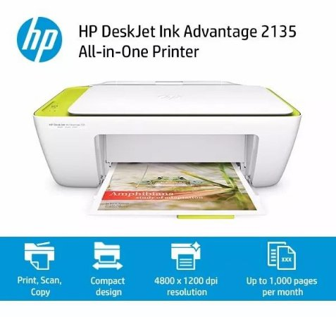 Impressora All-in-One HP Deskjet Ink Advantage 2135