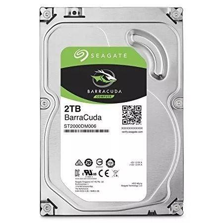 UNIDADE DE DISCO HD 2TB BARRACUDA SEAGATE 7200RPM 64MB CACHE SATA 6GB/S