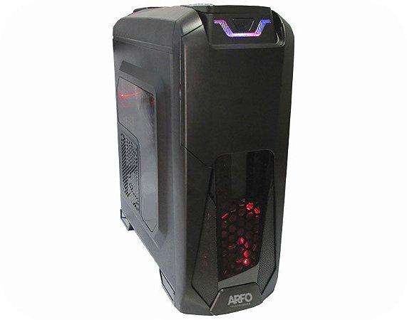 PLATAFORMA GAMER ARFO AR-9900G, 8TH E 9TH, Mother Gamer B360, Gabinete e Fonte Gamer de 400w, VFGA,HDMI,DVI,6 USB 3.0, 2 USB 2.0,Slot M.2 SSD 32GB/S, Conector Int./Lpt e Serial, (adicionar: Processador 8th, Memoria DDR4, Disco e PLaca de video)